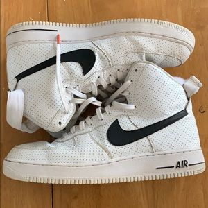 High Top Air Force 1s B & W, Condition: 8/10
